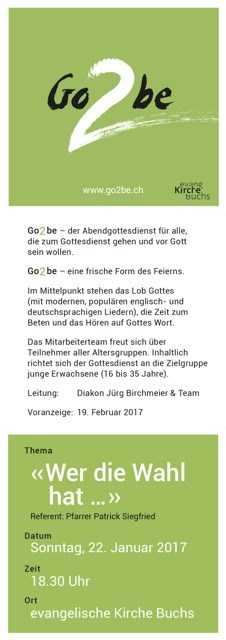 Go2be-Gottesdienst